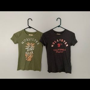 Bundle of 2 hollister logo t-shirt's